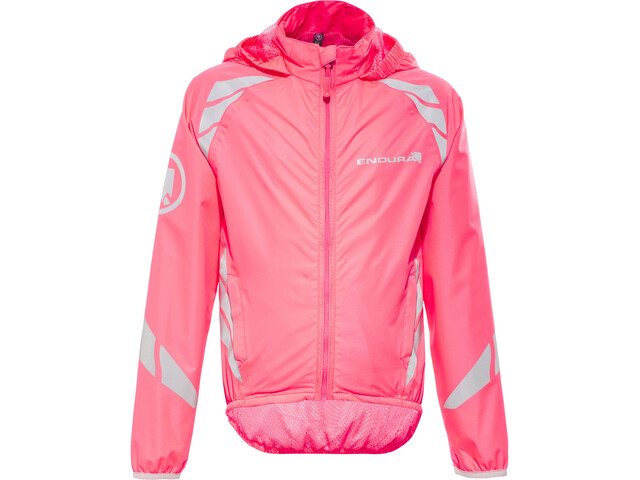 Endura Luminite II Jacket Kids hi-viz pink/reflective